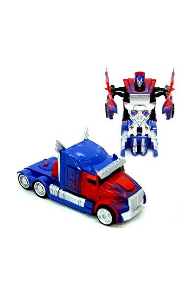 Transformers Tarzı Tıra Dönüşen 14 Cm Optimus Prime Robot