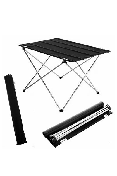 Katlanabilir Masa Piknik Çok Amaçlı Kamp Masası Taşıma Çantalı 73x55x48 Cm