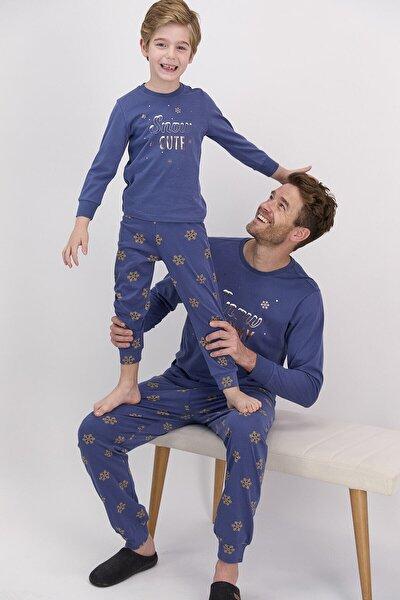 Erkek Uzun Kol Snow Baskılı Pijama Takımı (baba Oğul Kombin Yapılabilir Fiyatları Farklıdır)