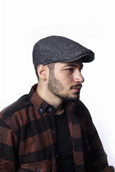 Erkek Lacivert Lastikli Kaşe Kasket Şapka