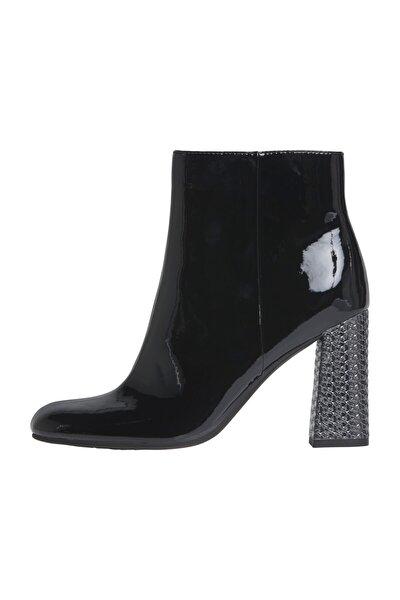 Kadın Siyah Bot & Bootie Elevated Patent High Heel Boot FW0FW04571