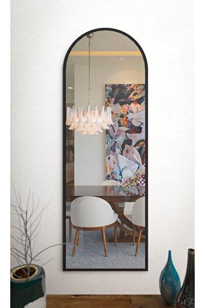 Siyah Dekoratif Boy Aynası 150x50  cm