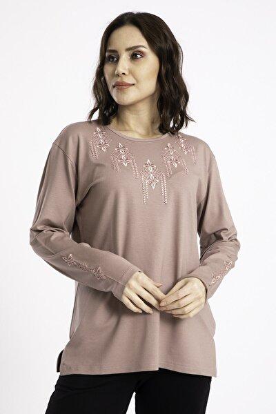 Kadın Pudra Anne Penye Bluz 307