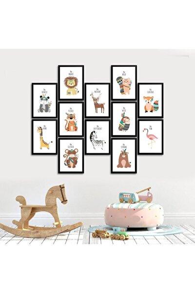 12 Parçalı Çerçeve Görünümlü Çocuk Odası Tablosu 10x15