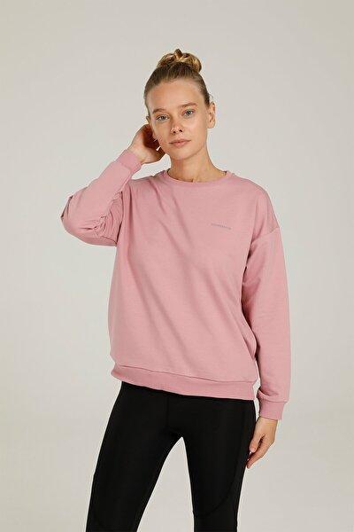 Sn79 Basıc C Neck Sweatsh Pembe Kadın Sweatshirt