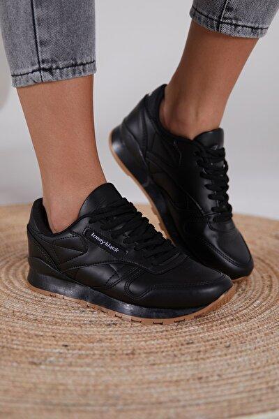 Siyah Cilt Unisex Sneaker V2106-0