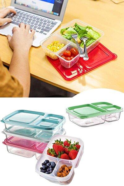3 Bölmeli Diyet Saklama Kabı Taşınabilir Beslenme Kabı