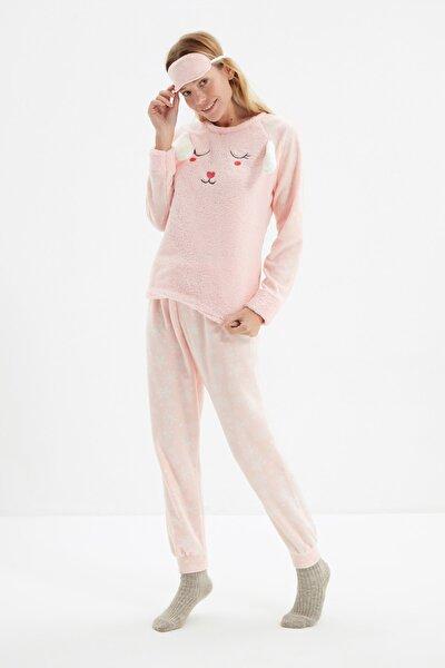 Somon Nakışlı Wellsoft Pijama Takımı THMAW21PT0667