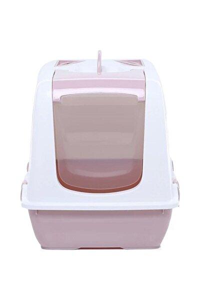 Kapalı Kedi Tuvaleti - 50*45*40 Pembe