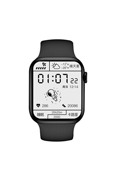Pl6 Pro Max 1.8inç Watch Akıllı Saat Siyah