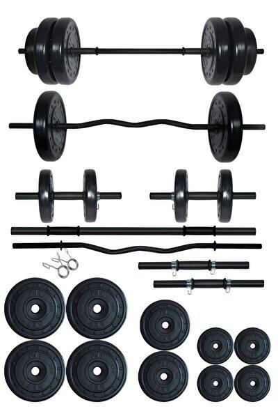 68 kg Z Barlı Halter Seti Ve Dambıl Seti Ağırlık Fitness Seti