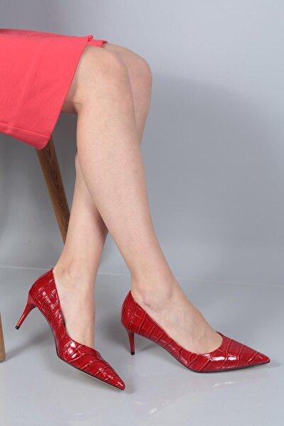 Kadın Kırmızı Sivri Topuk Stiletto Ayakkabı