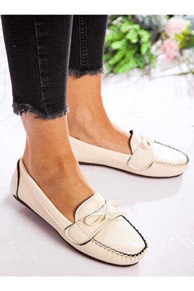 Kadın Krem Günlük Ayakkabı  1713021