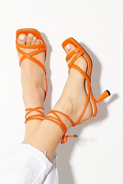 Kadın Turuncu Topuklu Ayakkabı byc1702