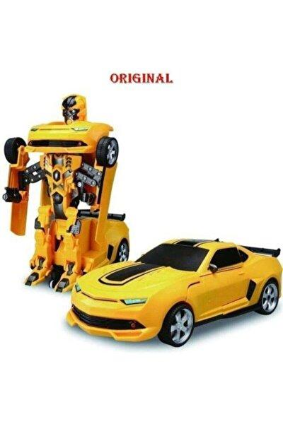 Bumblebee Oyuncak Transformers Robota Dönüşen Pilli Işıklı Sesli Eliteoyuncak
