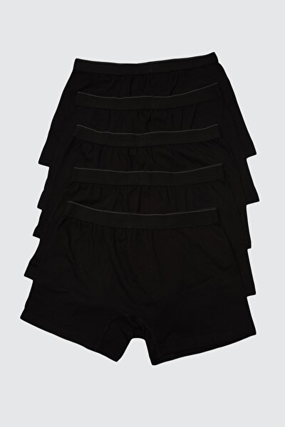 Siyah Erkek 5'li Paket Boxer TMNAW21BX0018