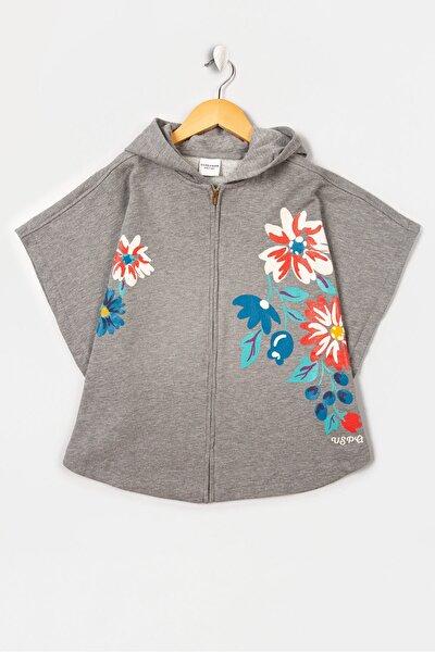 Gri Kız Çocuk Sweatshirt