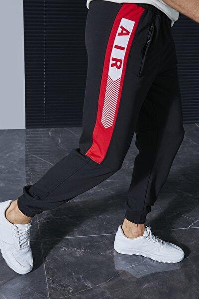 Erkek Siyah-Kırmızı Eşofman Altı Stn870Eef211