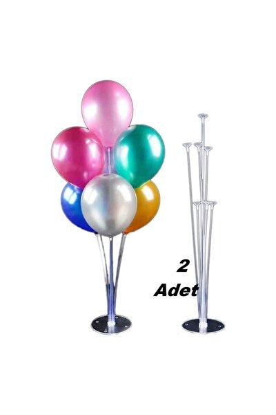 2 Li Balon Süsleme Standı 7 Çubuklu Set Yerli Üretim 75 Cm