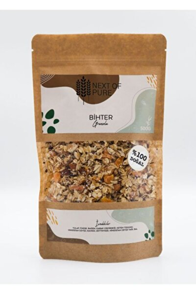 Pure-bihter Granola- Doğal-500 Gr