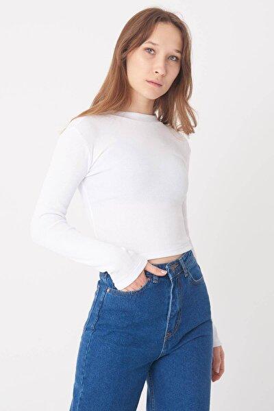 Kadın Beyaz Fitilli Bluz B1321 - E4 ADX-0000023375