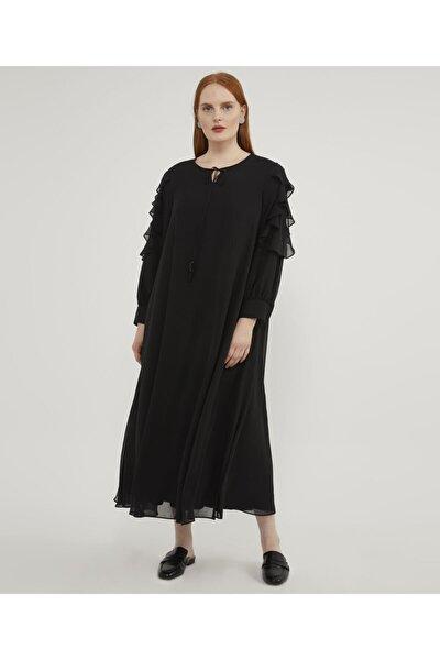 Kadın Siyah Büyük Beden  Elbise
