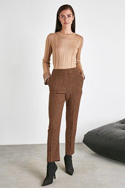 Kahverengi Kazayağı Pantolon TWOAW21PL0596