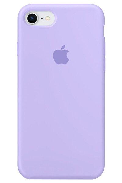 Iphone 6 6s Logolu Lansman Kılıf Altı Kapalı Iç Kısmı Kadife - Lila Mor