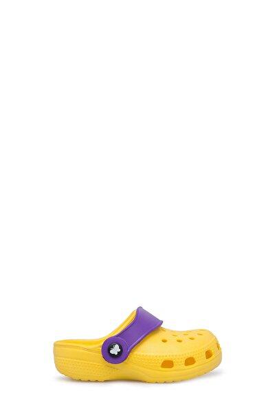 Unisex Çocuk Sarı Sandalet E012000b