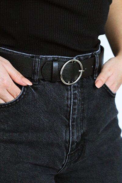 Kadın Siyah Pantolon Kemeri