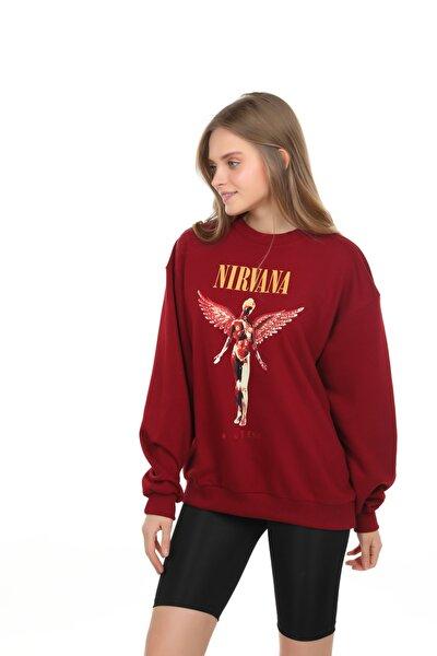 Kadın Bordo  Sweatshirt