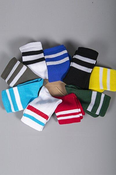 9lu Renkli Soket Çorap