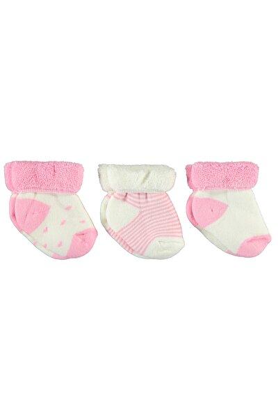Kız Bebek Havlu 3'lü Çorap 0-24 Ay Pembe