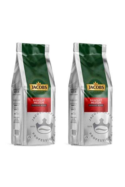 Banquet Medium Espresso Beans Çekirdek Kahve 1000 Gr X 2 Paket