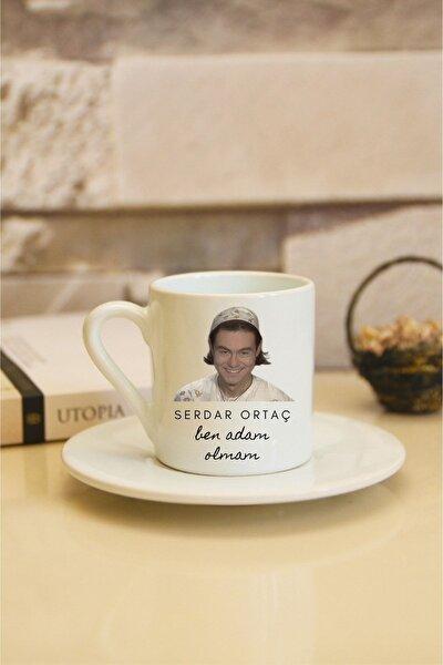 Serdar Ortaç 2 Baskılı Beyaz Türk Kahvesi Fincanı
