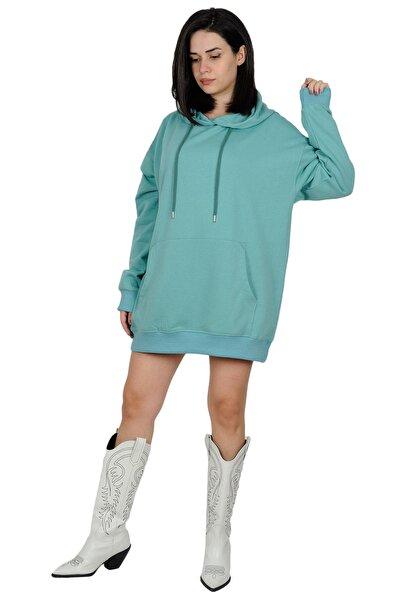 Oversize Kapüşonlu Sweatshirt