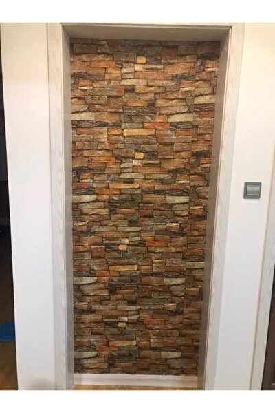 Nw47 Çok Renkli Koyu Tuğla Arkası Yapışkanlı Esnek Silinebilir Duvar Paneli