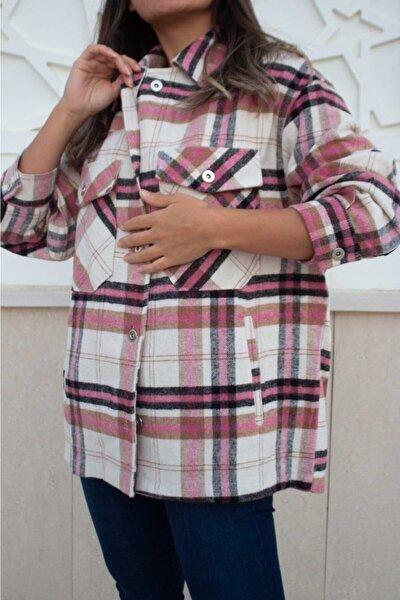 Kadın Kareli Oduncu Gömleği