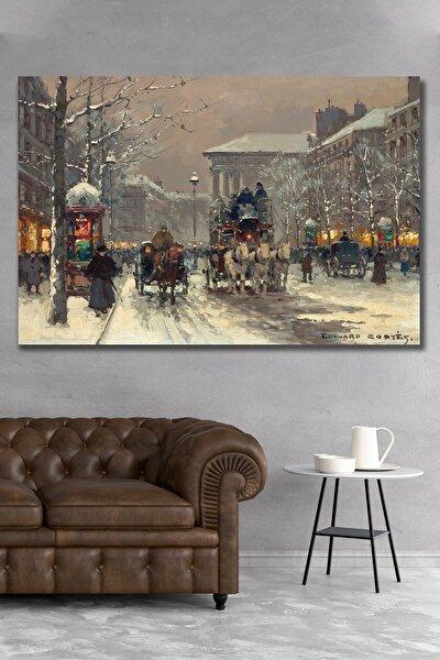 100x140 Londra Ve Kış Kanvas Duvar Tablo