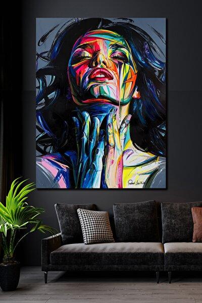 90x130 Woman & Art Kanvas Tablo
