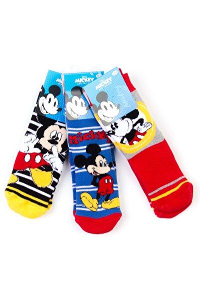 Disney 6 Çift Kaydırmaz Çocuk Çorap 17064