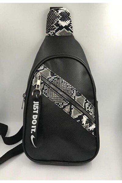 Unisex Siyah Çapraz Askılı Omuz Çantası
