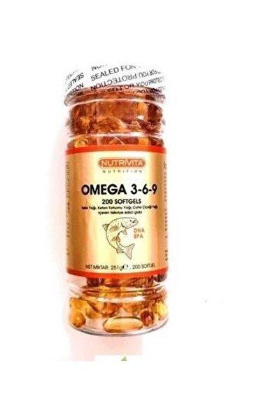 Omega 3 6 9 Balık Yağı 200 Softjel