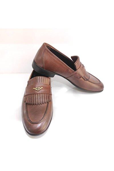 Erkek Taba Hakiki Deri Ayakkabı