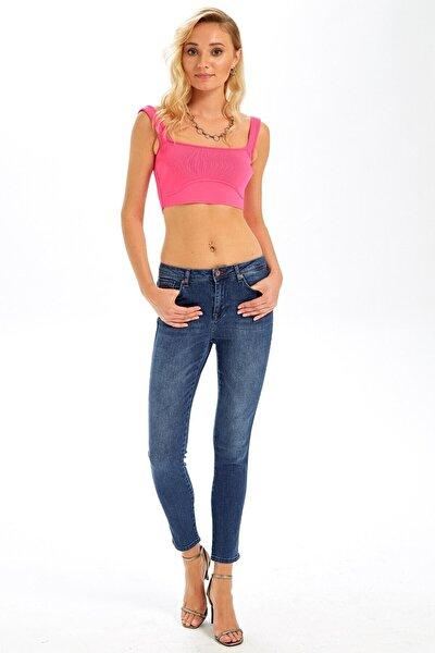 Kadın Rebecca Denim Pantalon Koyu Mavi
