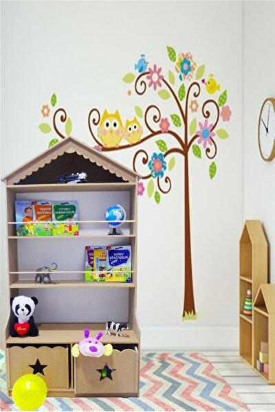 Kitaplık Raf Çocuk Bebek Odası Oyun Evi Oyuncak Kutusu Dolabı Sepeti Ahşap Montessori