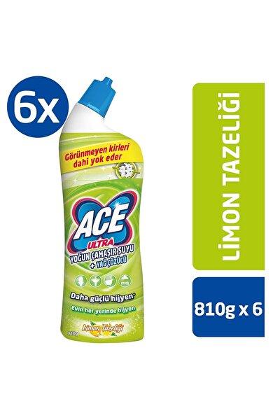 Ultra Power Jel Kıvamlı Çamaşır Suyu Limon Tazeliği 810gr x 6 Adet