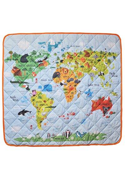 Dünya Haritası Eğitici, Çok Amaçlı Organik Oyun Halısı