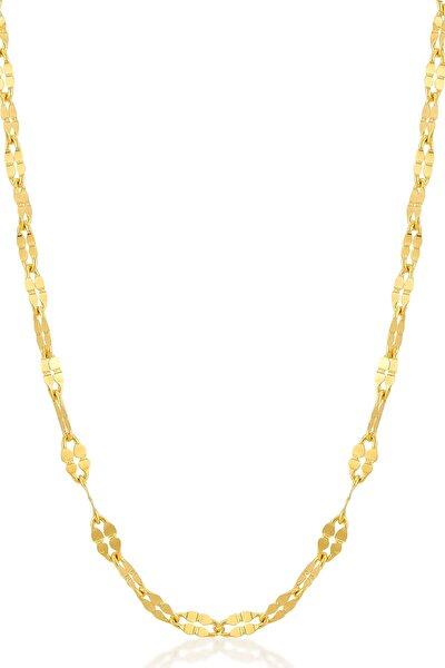 Gelin Diamond 14 Ayar Altın 2 Mm Ezme Bar Zincir Kolye