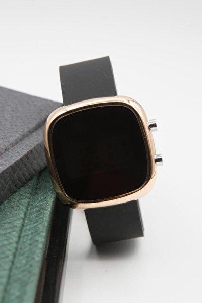 Siyah Rose Renk Silikon Kordonlu Dijital Ekran Bayan Kol Saati Og802rsyh